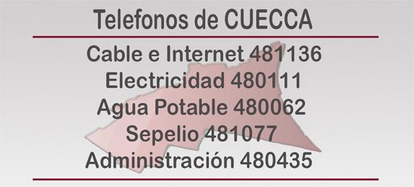 TELEFONOS DE  CUECCA web