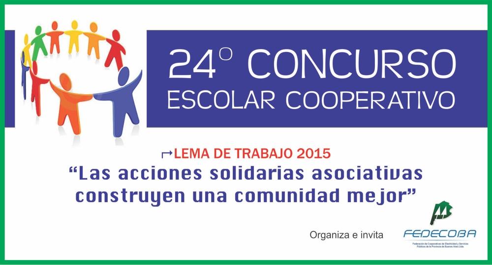 """24ª EDICIÓN CONCURSO ESCOLAR COOPERATIVO PROVINCIAL """"FEDECOBA 2015″"""