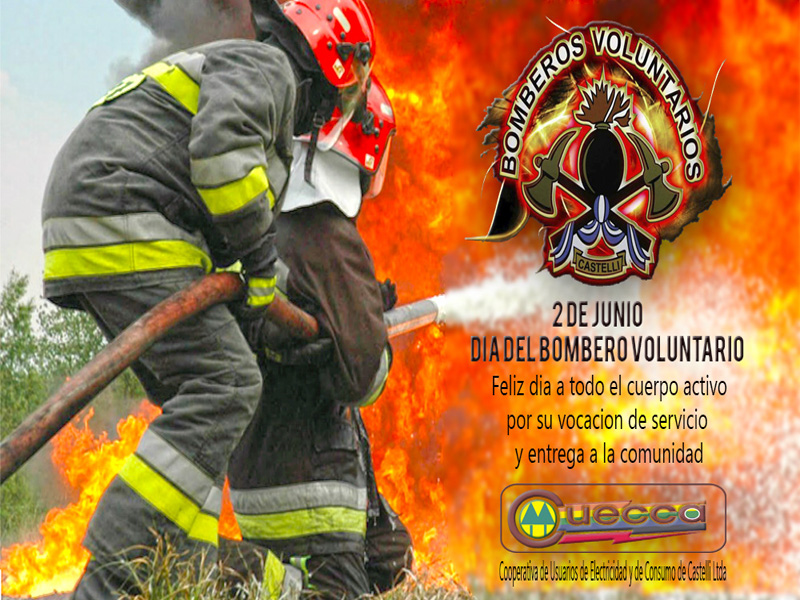 2 DE JUNIO: DIA DEL BOMBERO VOLUNTARIO