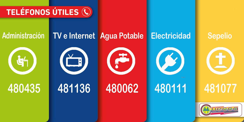 TELEFONOS UTILES DE CUECCA