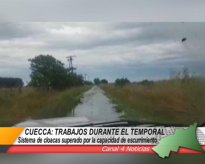 TRABAJOS DE CUECCA DURANTE EL TEMPORAL DE LLUVIAS