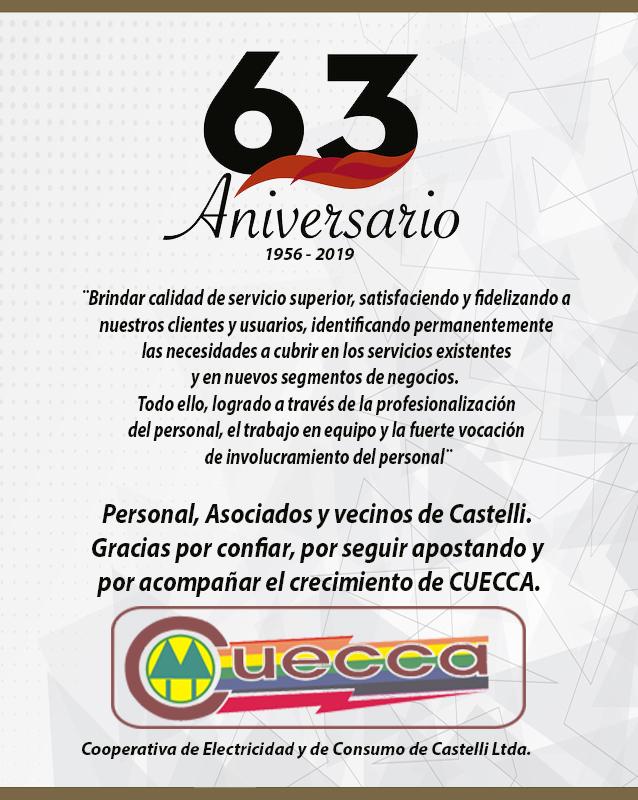 CUECCA CUMPLE 63 AÑOS DE SU FUNDACION