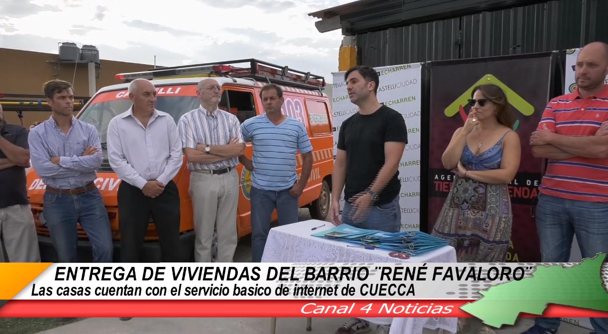 SE ENTREGARON 16 VIVIENDAS EN EL BARRIO FAVALORO CON SERVICIO BASICO DE INTERNET DE CUECCA